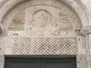 Particolare esterno Battistero, Ascoli Piceno